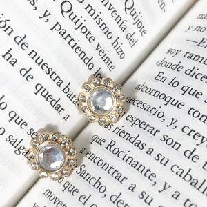 JEWELD DIAMOND PAVE STUD EARRINGS